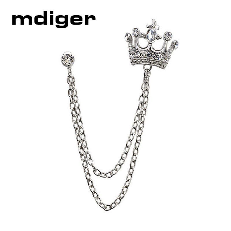 15f836c51f9 Mdiger Brand Unisex Brooches For Men's Suits Brooches Men Jewelry Women  Crown Lapel Pin Male Collar Pin Badge For Wedding Gifts