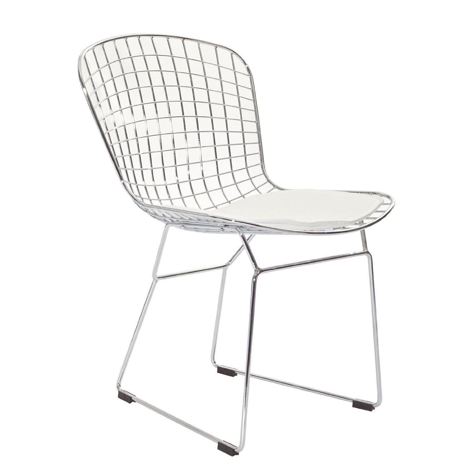 Amazon.com: LexMod Bertoia Style Side Chair with White