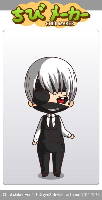 Ken Kaneki Tokyo Ghoul Chibi Maker Chibimaker Tokyoghoul