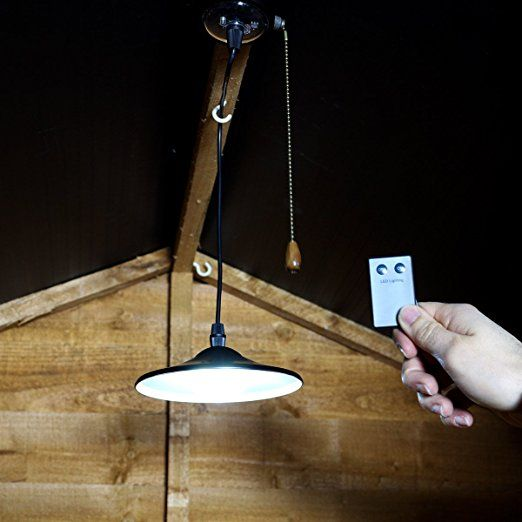 Led Shed Light Solar Ed Bright White Remote Control Pull Cord By Festive Lights