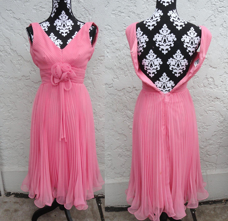 Pink Prom Dress -- Size X-Small -- Vintage 1960\'s -- Miss Elliette ...