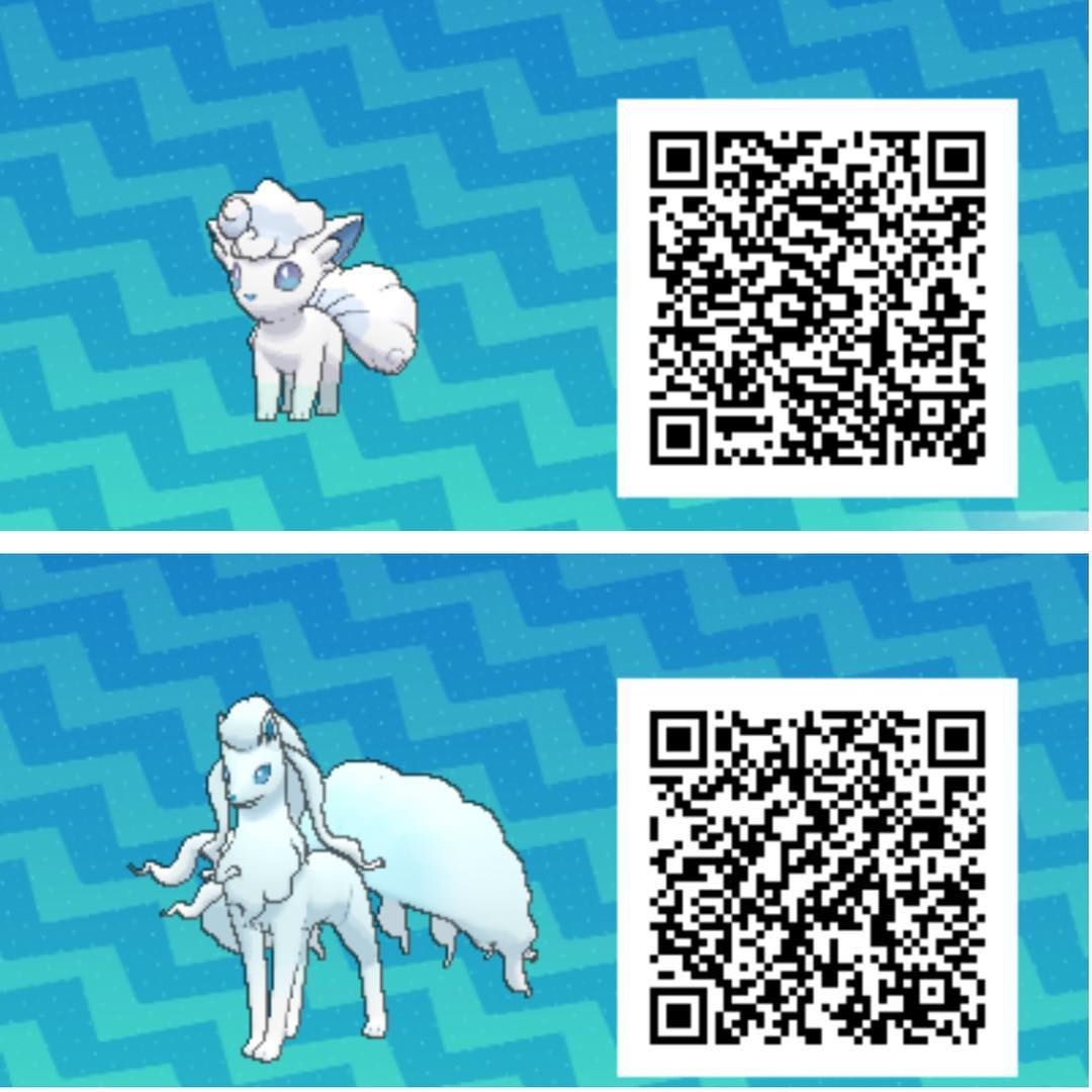 Qr Codes For Alolan Vulpix And Ninetales Pokedex Entries