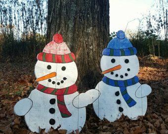 pallet snowman outdoor snowman christmas decor outdoor christmas decorations pallet board snowman