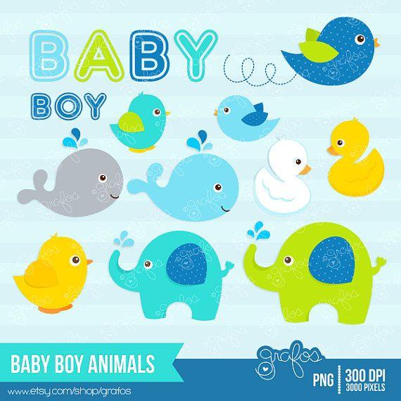 Baby Boy Animals Digital Clipart Baby Animals Clipart By Grafos 5 00 Clip Art Animal Clipart Digital Clip Art