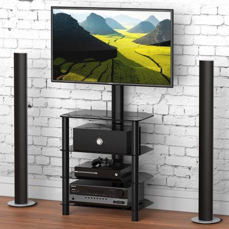 entertainment center for 50 inch tv. Fitueyes Universal TV Stand Base Entertainment Center With Mount For 32 40 45 50 Inch TVs 3-tier TW406001MB, Black Tv
