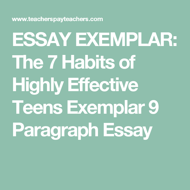 7 habits of highly effective teens essay
