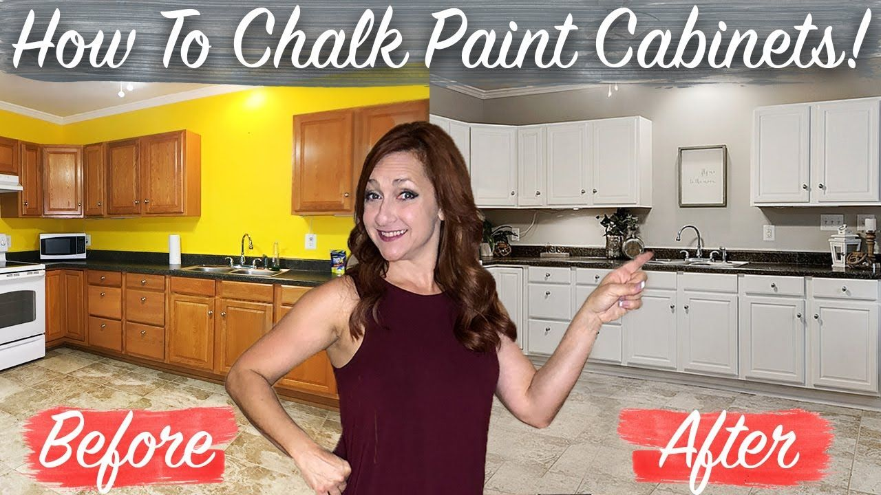 How To Chalk Paint Kitchen Cabinets No Sanding Fast Easy Diy Youtube In 2020 Chalk Paint Kitchen Cabinets Chalk Paint Kitchen Painting Kitchen Cabinets