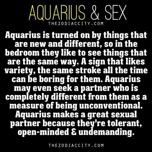 Aquarius sex traits