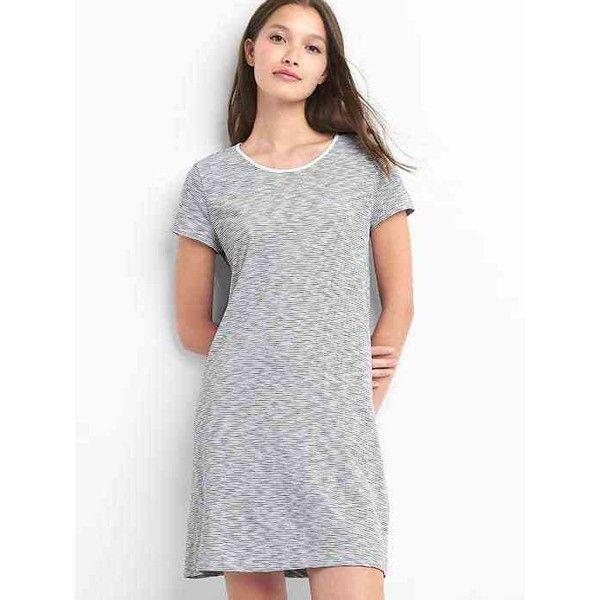 e7258eb85bb Gap Women Stripe Twist Back T Shirt Dress ( 35) ❤ liked on Polyvore  featuring dresses