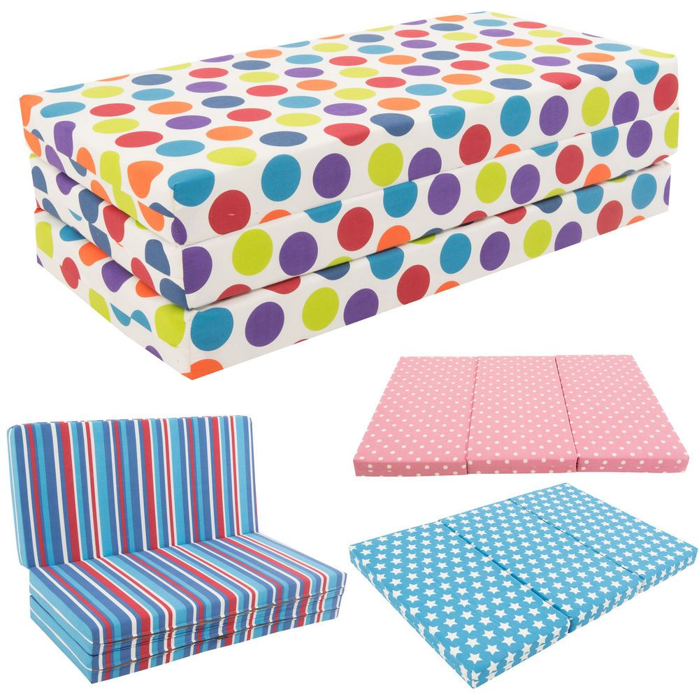 Gilda Kids Folding Sofa Bed Futon Guest Z Chair Sofabed Childrens