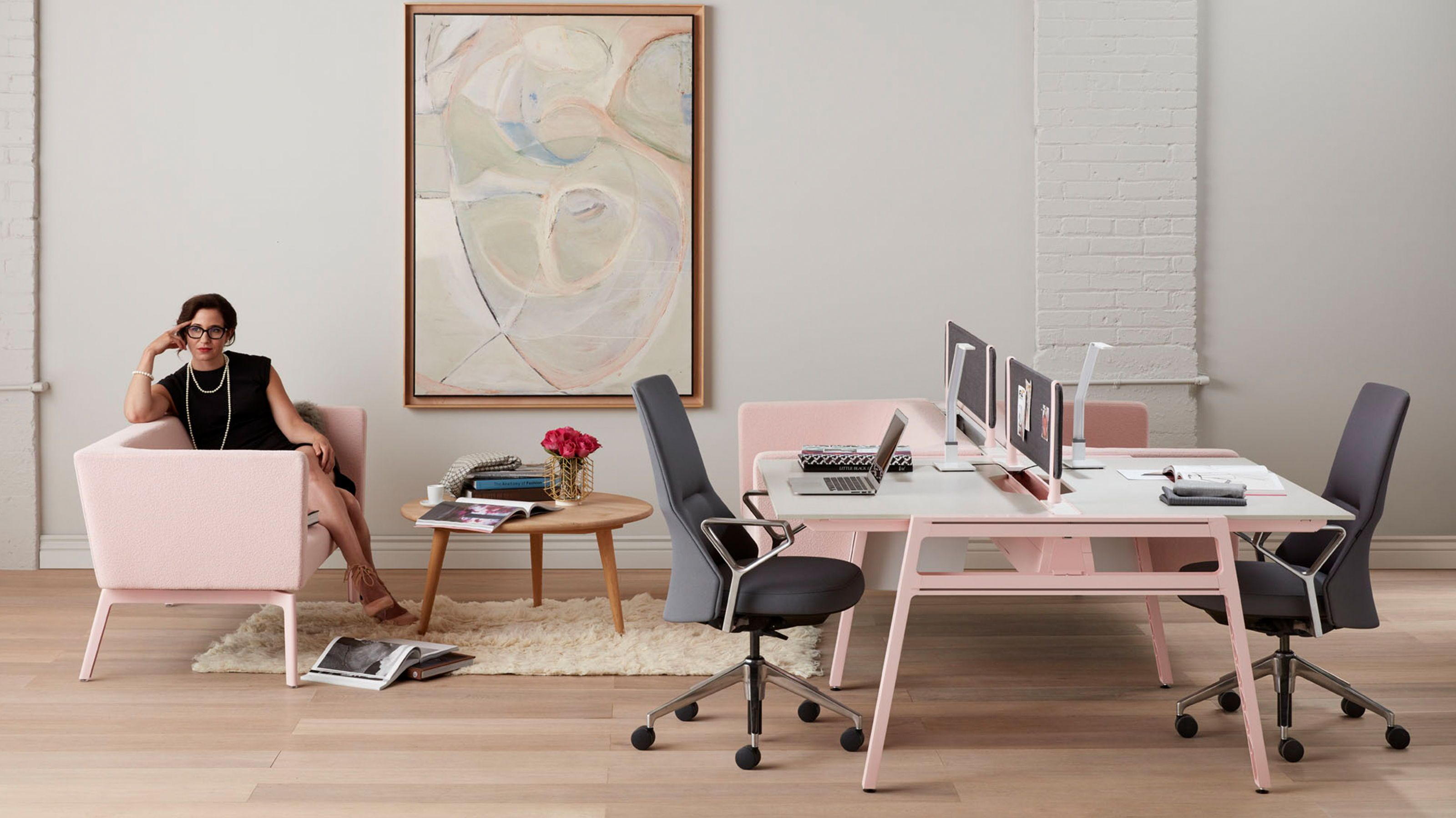 Bivi Modern Office Desk System By Turnstone Steelcase Modern Office Desk Steelcase Open Office Design
