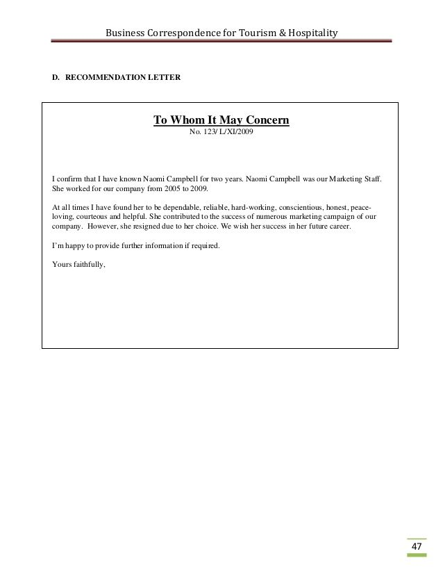 Letter Of Recommendation To Whom It May Concern Template from i.pinimg.com