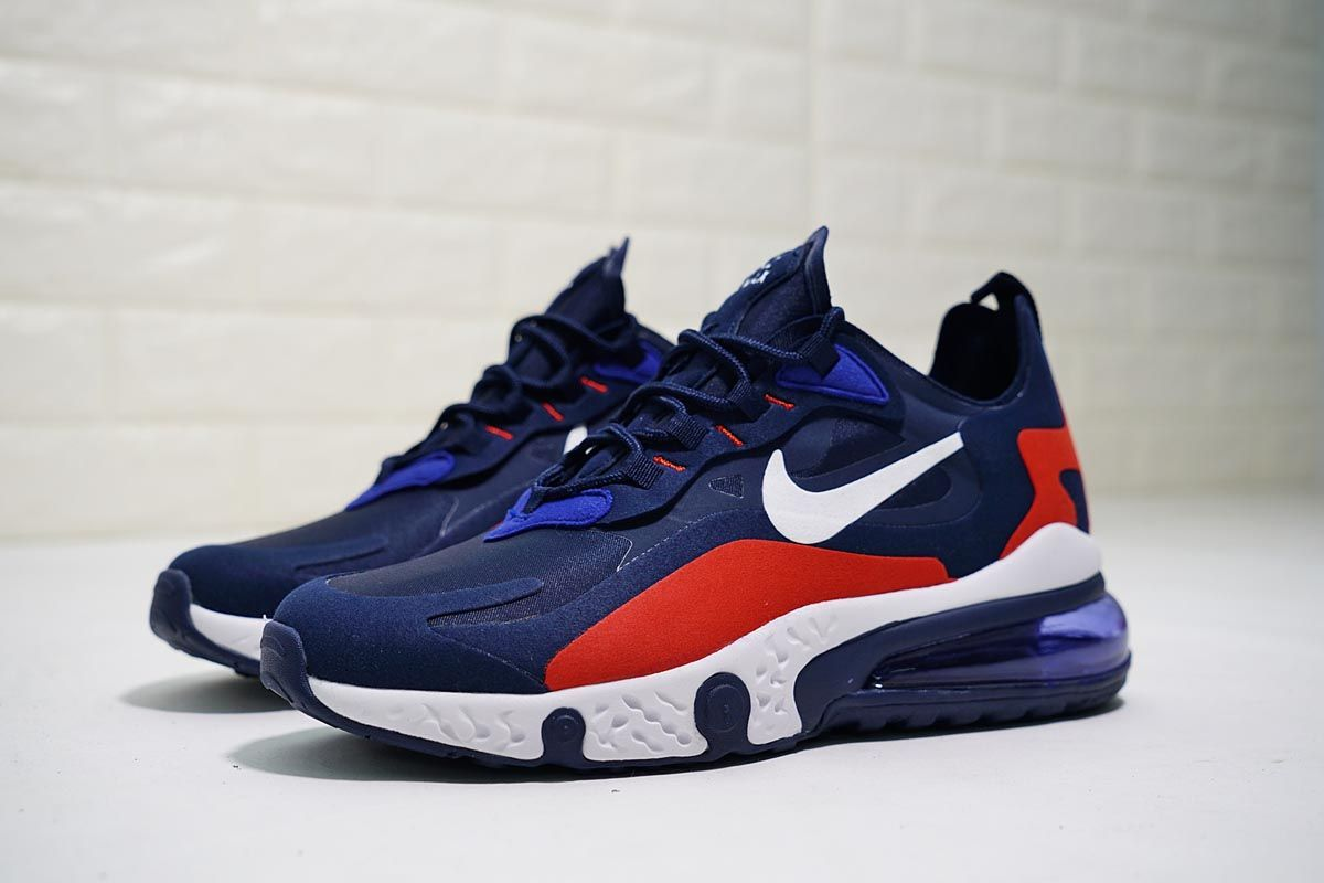 Nike React Air Max 270 Navy Blue in 2020 | Nike, Navy blue