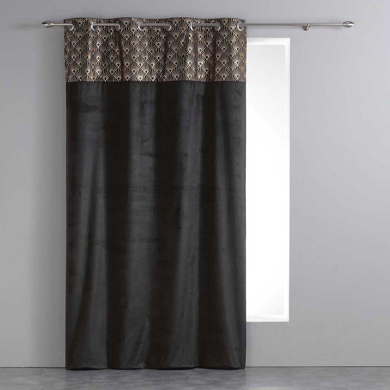 rideau rideaux velour motif art deco