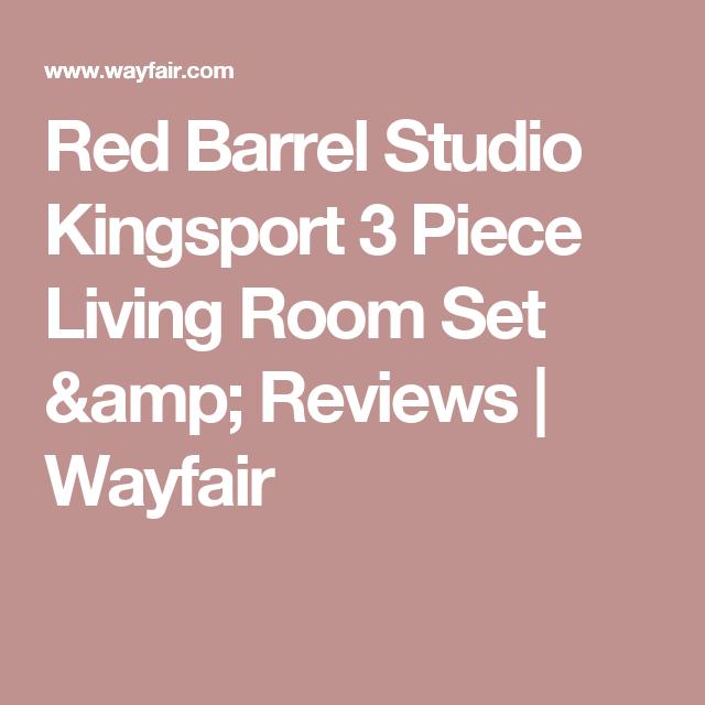 Red Barrel Studio Kingsport 3 Piece Living Room Set & Reviews ...