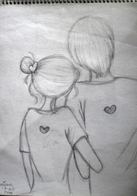 easy pencil sketch of couples - Google Search