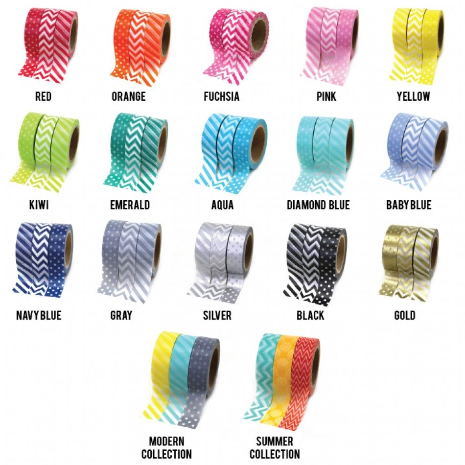3-Pack Collections Japanese Paper Washi Tape [DMC 3PK Washi Tape ...