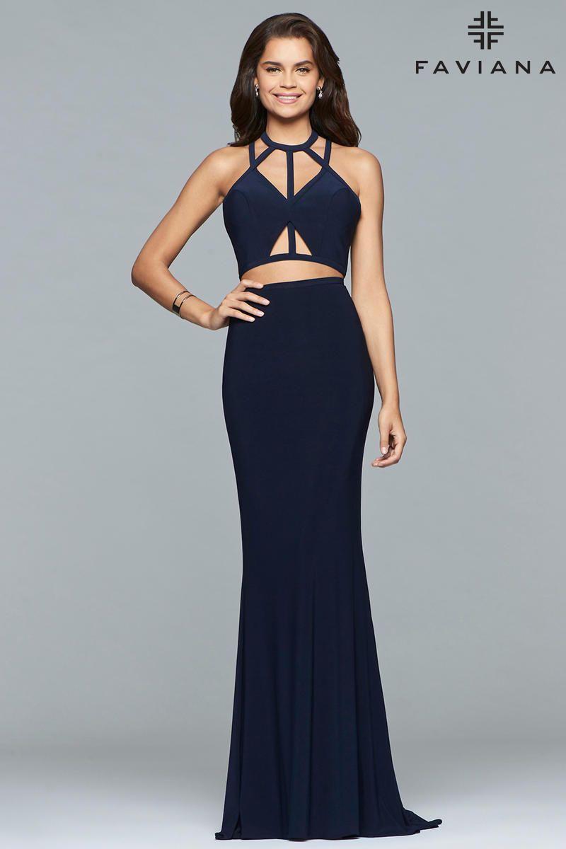 Faviana 10072 Cutout 2 Piece Strappy Prom Dress | My Style ...