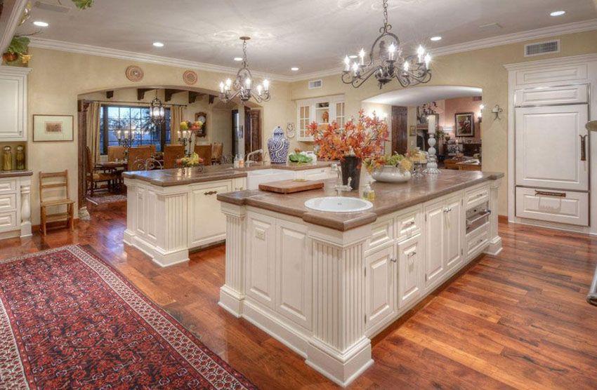 27 Amazing Double Island Kitchens Design Ideas Country Kitchen Designs Double Island Kitchen Country Kitchen