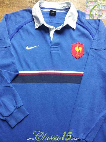 1999 00 France Home Shirt L Long Sleeve Rugby Shirts Classic Rugby Shirts Rugby Shirt