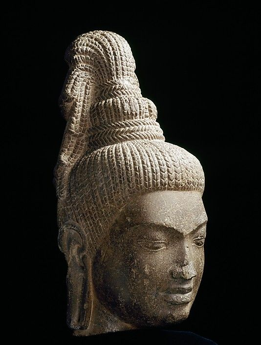 Head of Bodhisattva Maitreya. Last quarter of the 7th century. Cambodia. Sandstone. http://www.metmuseum.org/exhibitions/view?exhibitionId=%7b9A312299-72C2-49CD-9AFC-DE56BDFCF6BD%7d&oid=77679&pg=6&rpp=20&pos=119&ft=*