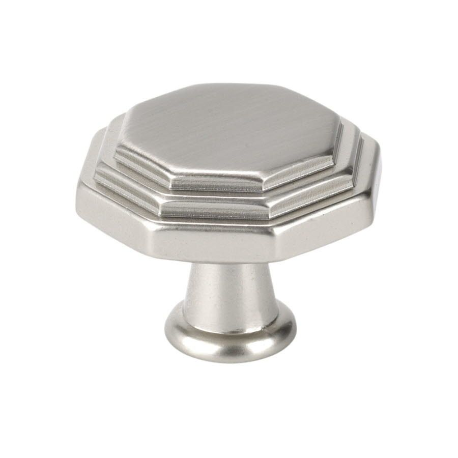 "Topex 10819B35 Italian Designs Knob 1 1/8"" Satin Nickel"