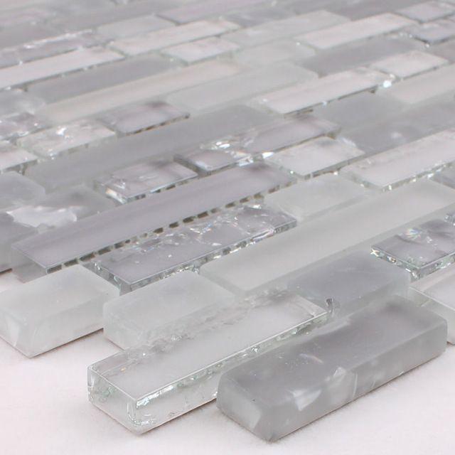 Mosaico de vidrio de cristal grieta pegatinas backsplash de la ...