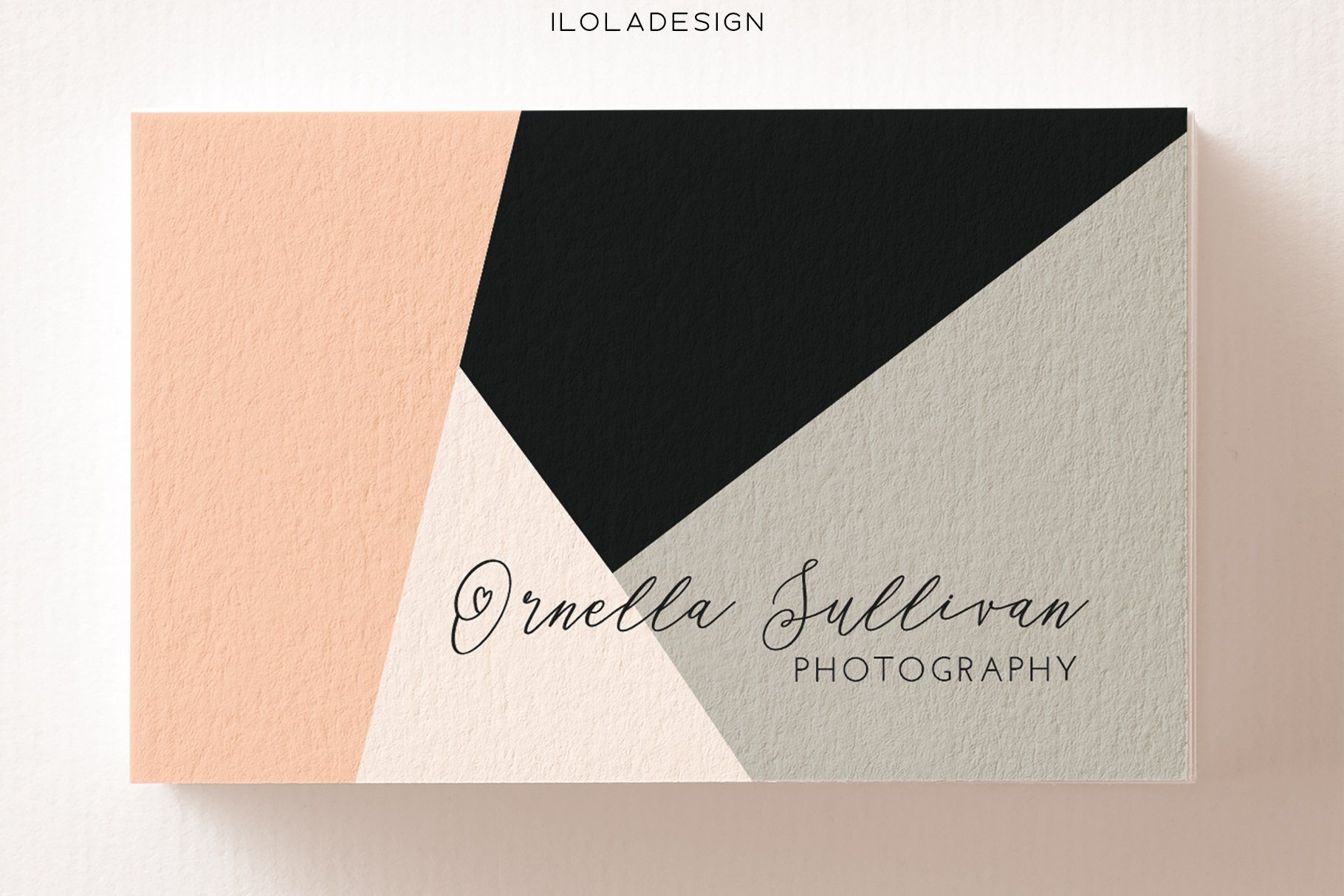 Geometric Chic Business Card Chic Business Card Business Cards Creative Templates Unique Makeup Artist Business Cards