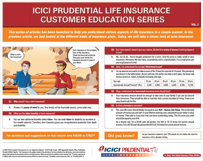 Icici Prudential Customer Education Series Education Term