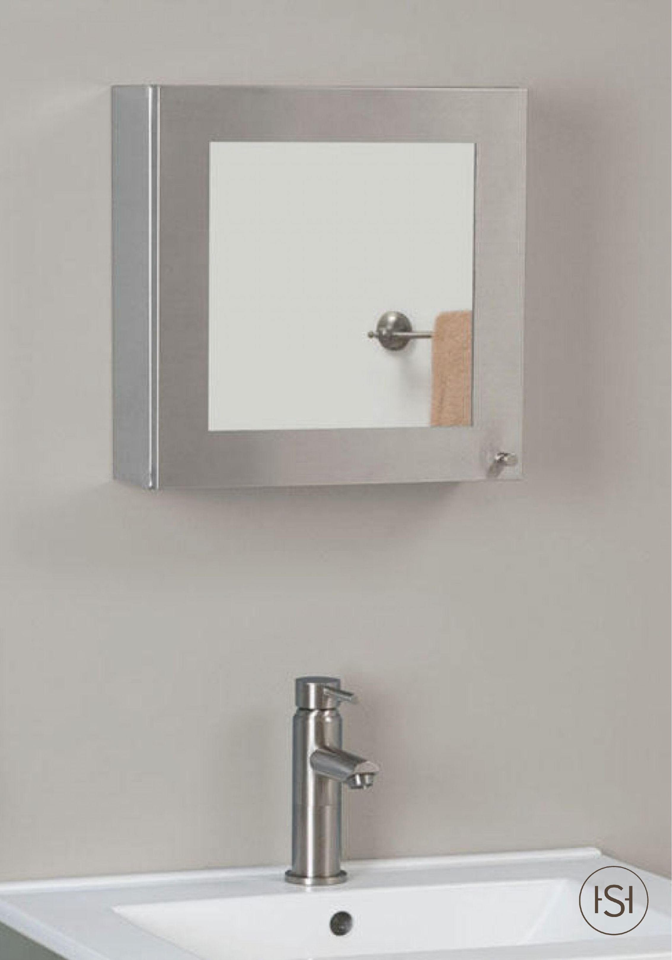 This Signature Hardware Stainless Steel Medicine Cabinet Mirror Is