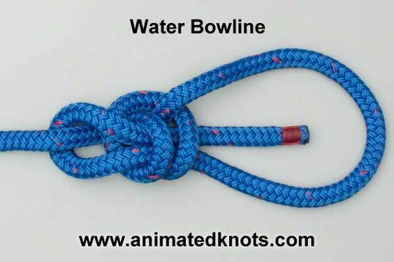 how to tie a water bowline knot knots knots, rope knots, bowlinehow to tie a water bowline knot