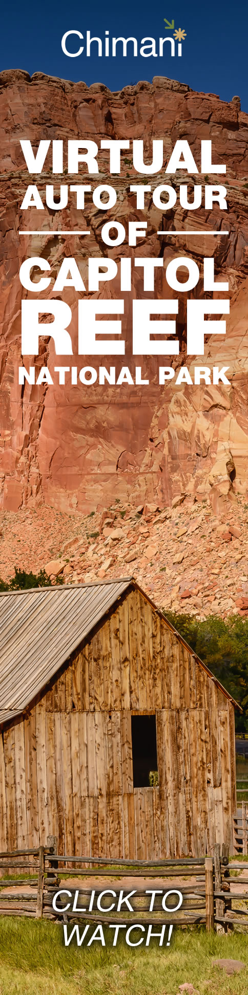 Capitol Reef National Park in central Utah tends to be overshadowed by its other four siblings, Utah's mighty Arches, Bryce Canyon, Canyonlands, and Zion. After all, with all of that beautiful red rock that Utah has been blessed with, you could make the argument that most of the state should be a giant national park.  Watch our Auto Tour of Capitol Reef National Park here: https://blog.chimani.com/2016/10/24/auto-tour-capitol-reef-national-park-in-utah/