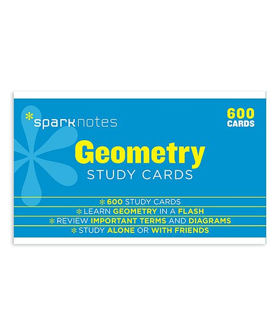 SparkNotes Geometry 600-Ct. Study Card Set