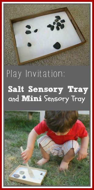 Sensory Play Invitation: Salt Tray and Mini Salt Tray - Buggy and Buddy