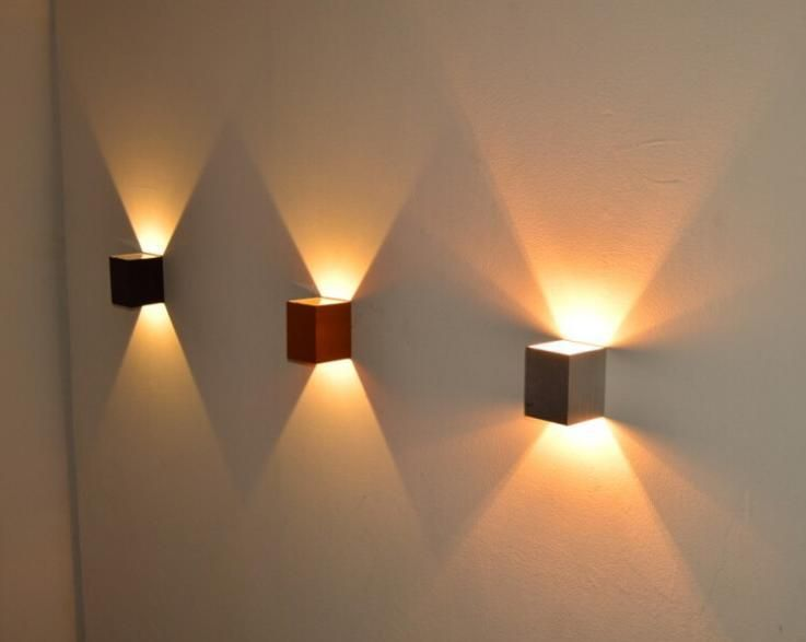 Modern design wall llight led wall lamp hall porch corridor lamp light warm white red blue