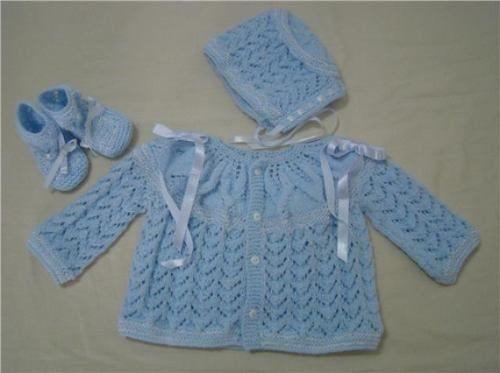 Ropones para bebé tejidos a palillos - Imagui | tejidos ...