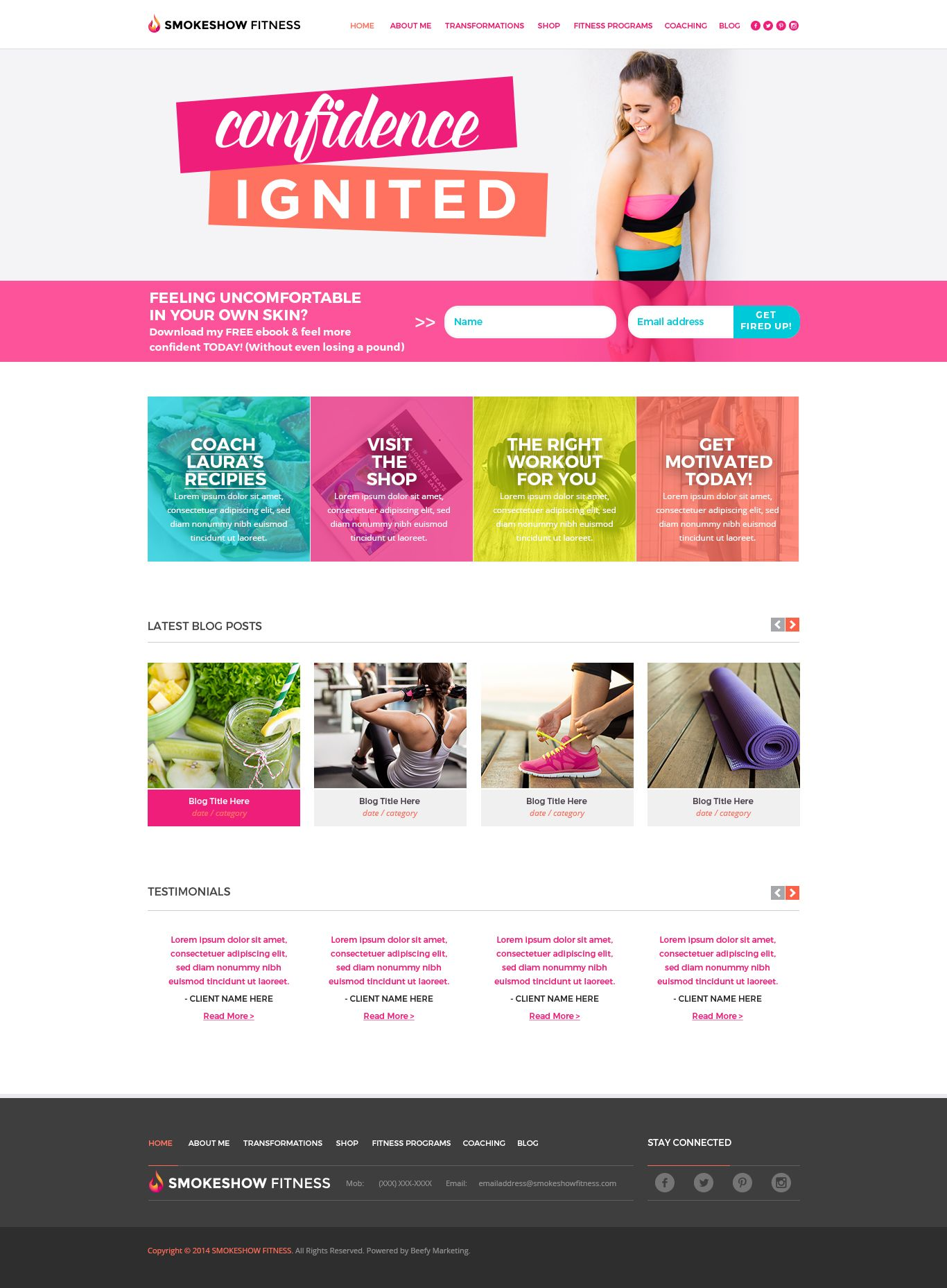Smokeshow Fitness Blog Website Design Webdesign Inspiratie Webdesign