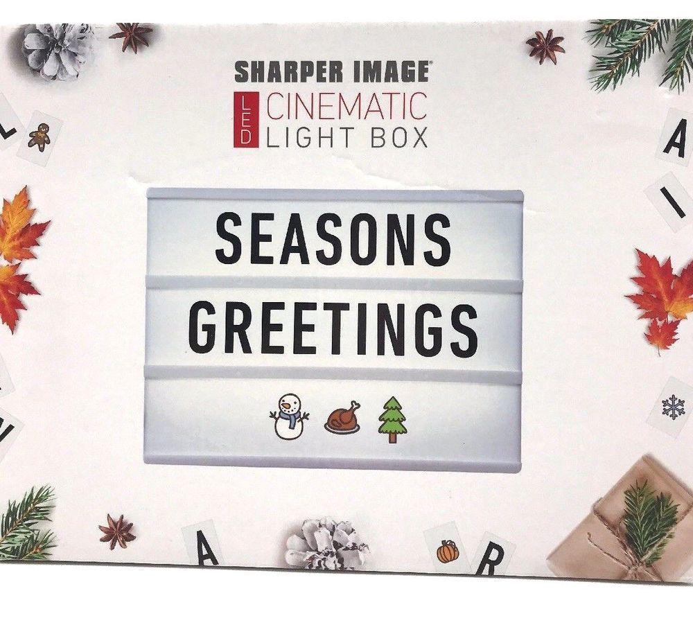 Sharper Led Cinematic Light Box Illuminate Inspire Letter