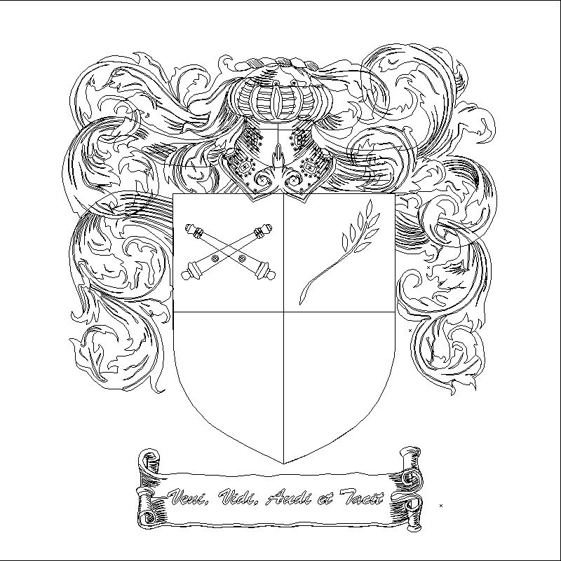 An Coat Of Arms Outline Example Found Via Google Search For