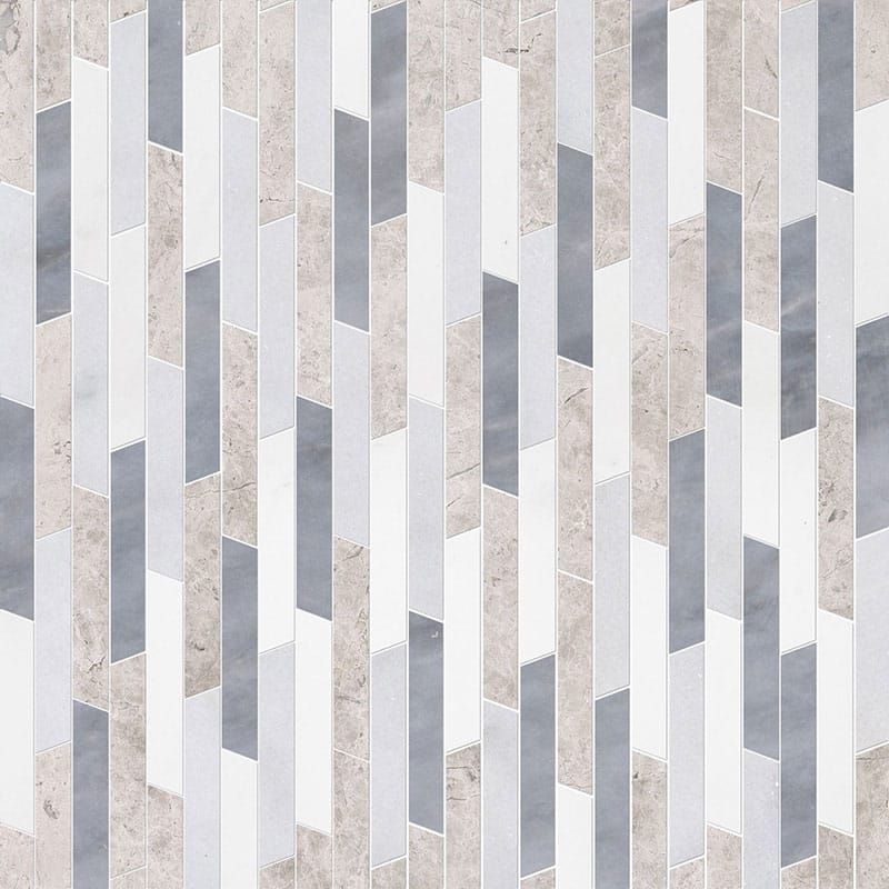 Aspen White Silver Shadow Glacier All Multi Finish Rhodes Marble Waterjet Decos 8 13 16x14 5 16 Country Floors Of America Llc Paving Design Paving Pattern Paving Texture