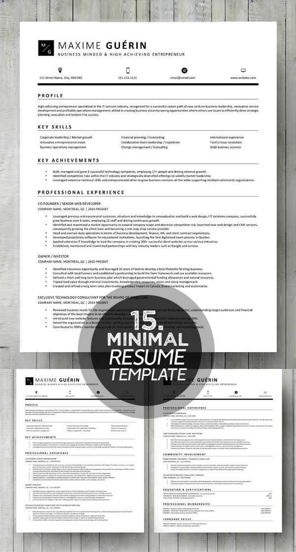 Word Resume  Cover letter Template Misc Pinterest Resume - community service letter