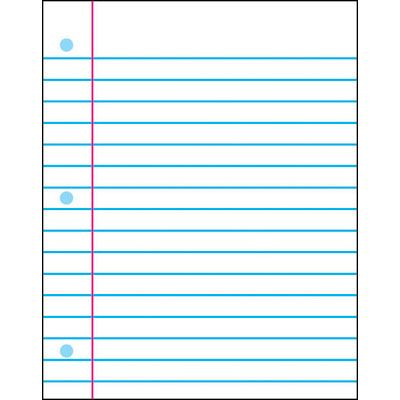 Notebook Paper Wipe-Off® Chart, 22\