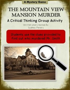 Murder mystery game students use critical thinking and inferences murder mystery game students use critical thinking and inferences fandeluxe Image collections
