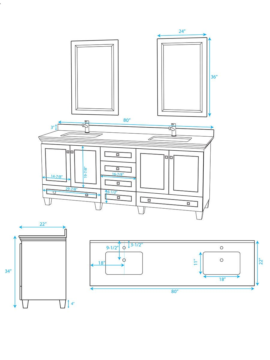 small resolution of 80 acclaim double vanity dimensions 9 of 11