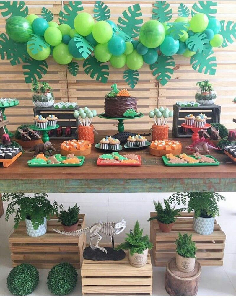 Pin de rubiane en festa pinterest fiesta dinosaurios cumple y cumplea os - Ideas decoracion bar ...