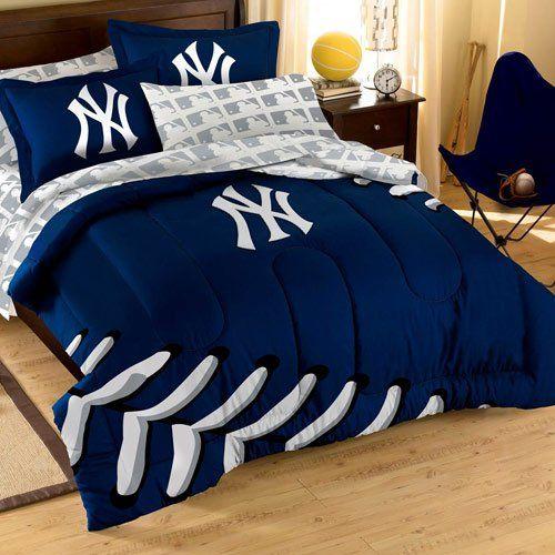 Yankees Bedding Set | Yankee room, Full comforter sets