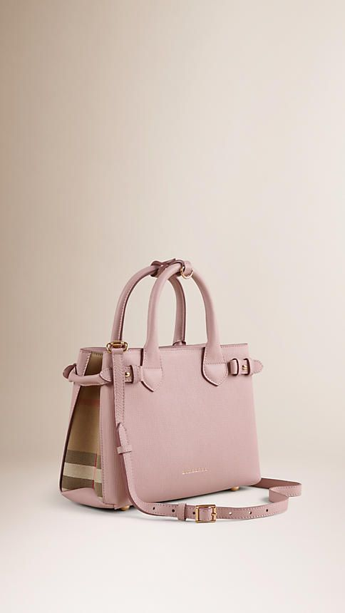 Small Banner Bag in Pale Orchid Grained Calfskin Burberry c1hYKEXRDz