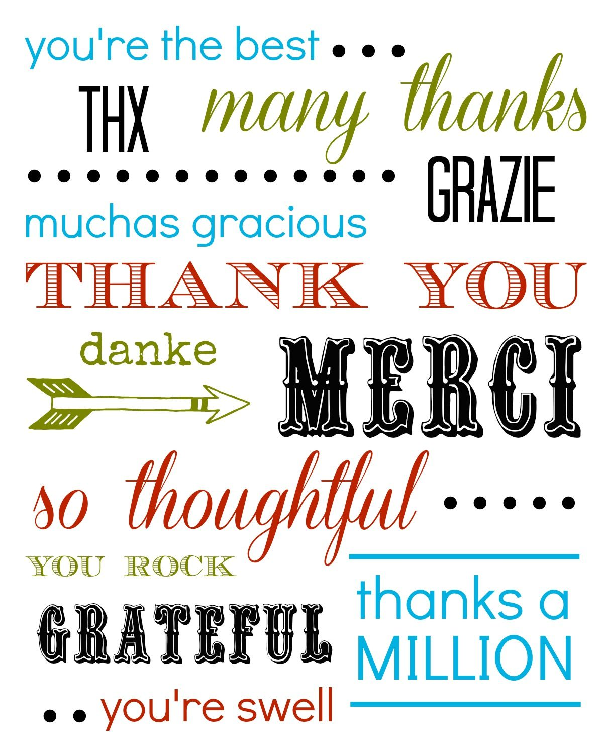 thank you card free printable printables and quotes pinterest