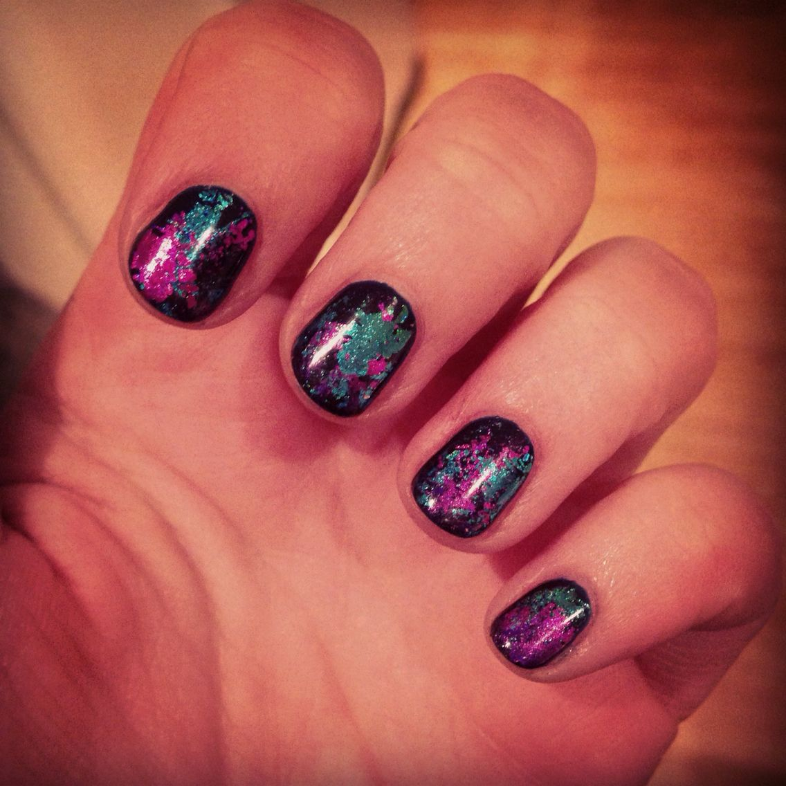 Jessica Christmas Nails: Love My New Foils Jessica Geleration Nails! Navy Green
