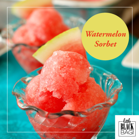 Delight your guests this weekend with this deliciously easy Watermelon Sorbet. So good! http://bit.ly/1lIcDrj #lbbcoza